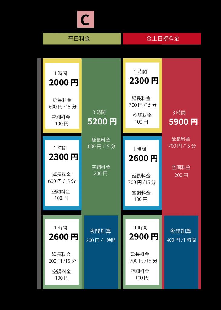 スペースC 料金表